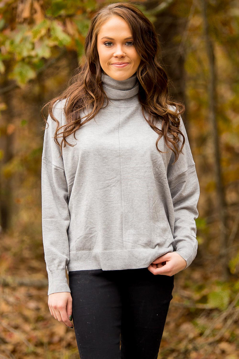 SALE-Camera Ready Sweater - Grey