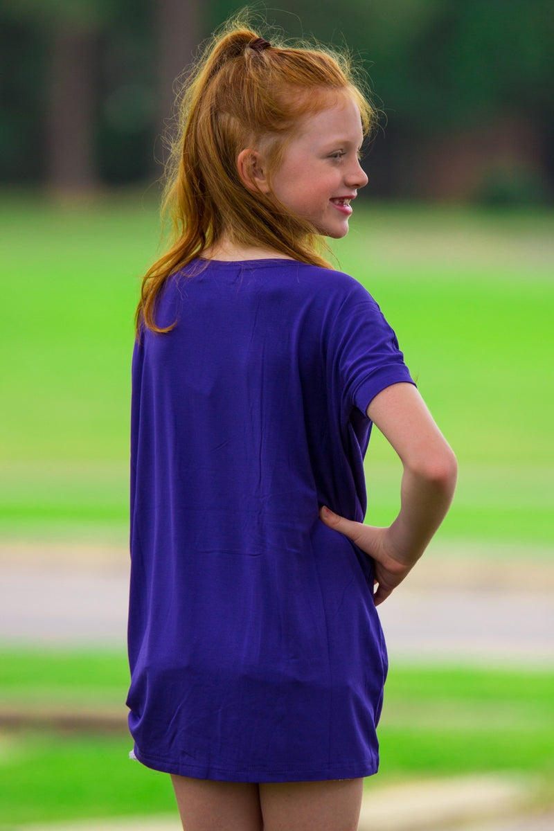 The Perfect Kids Short Sleeve Piko Top-Indigo