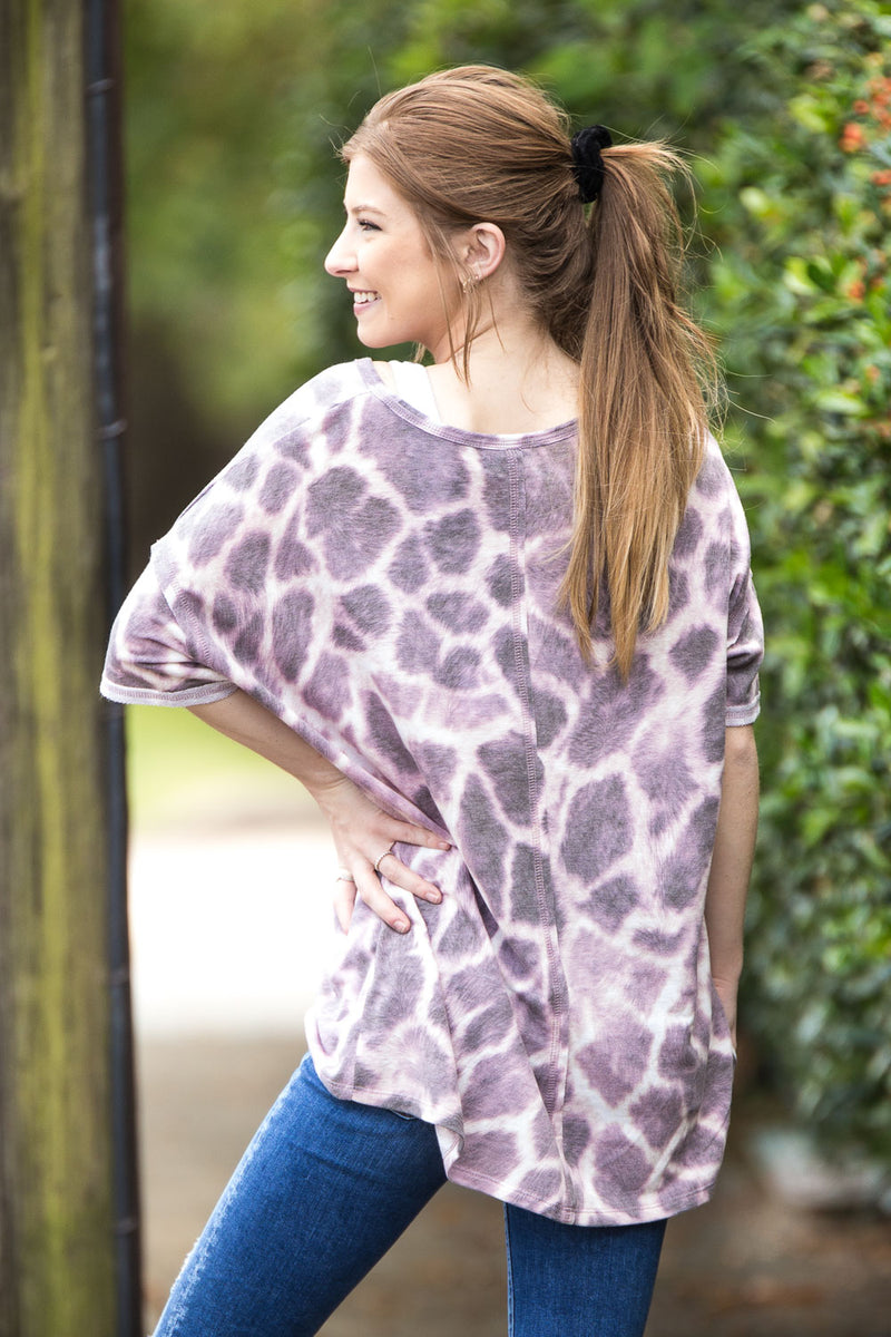 The Tori Top - Lilac/Taupe/Black