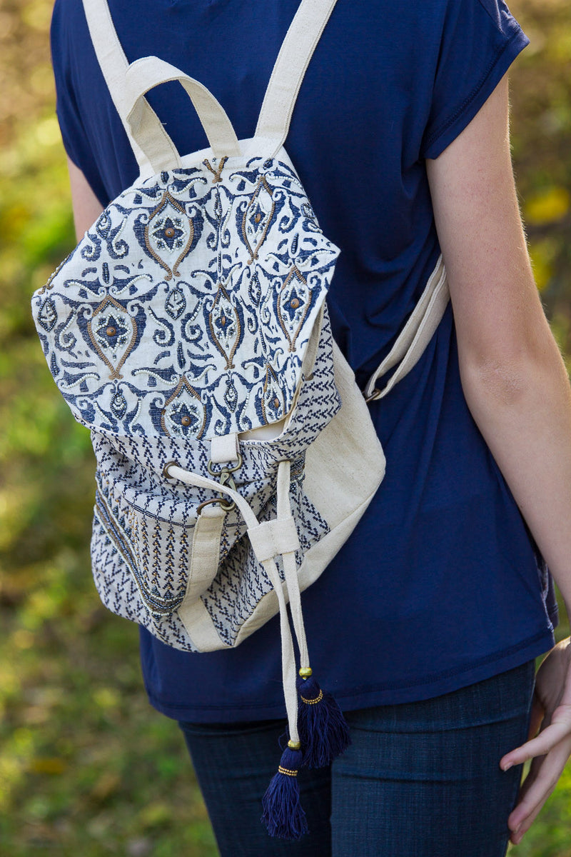 Fashion BackPack-Cream