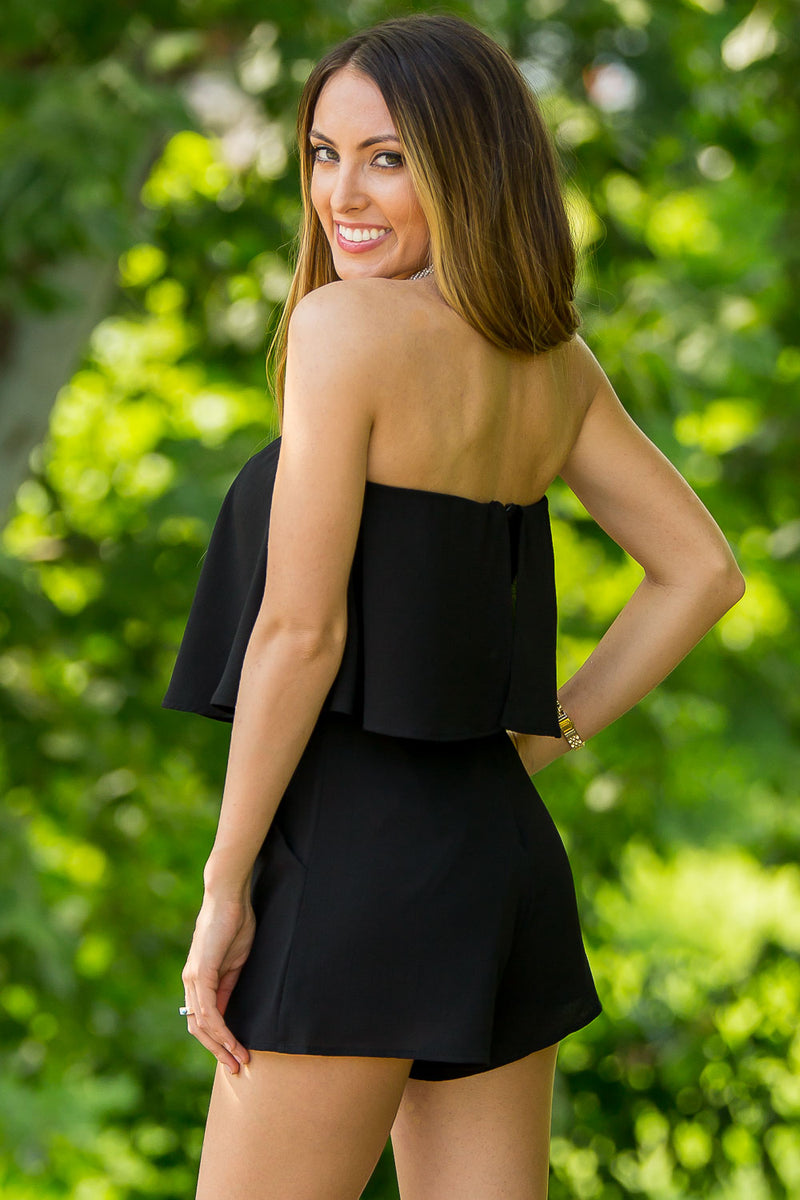 SALE-Make Your Heart Race Romper-Black
