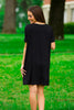 The Perfect Piko Short Sleeve Dress-Black