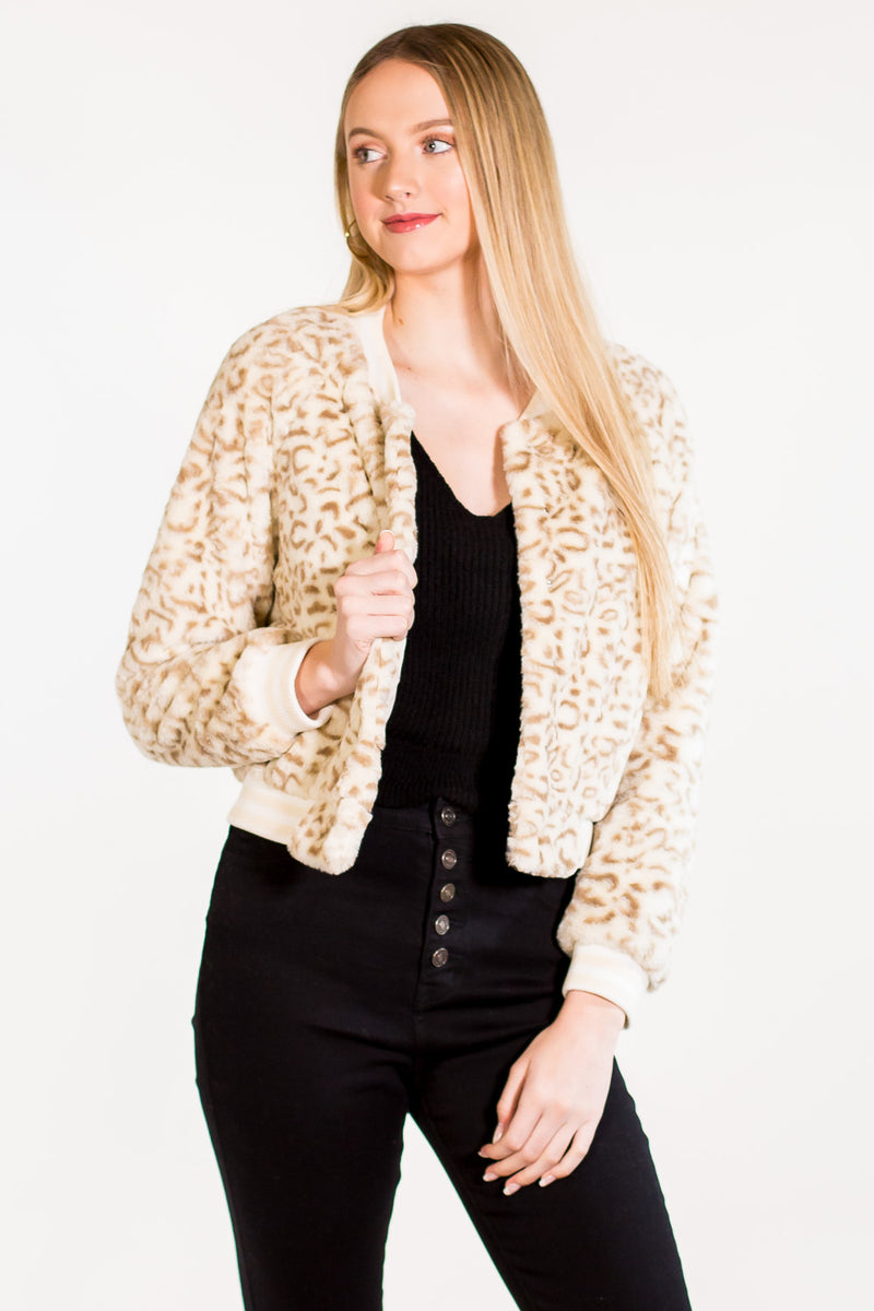 Buddy Love-Snow Leopard Jacket-Cream