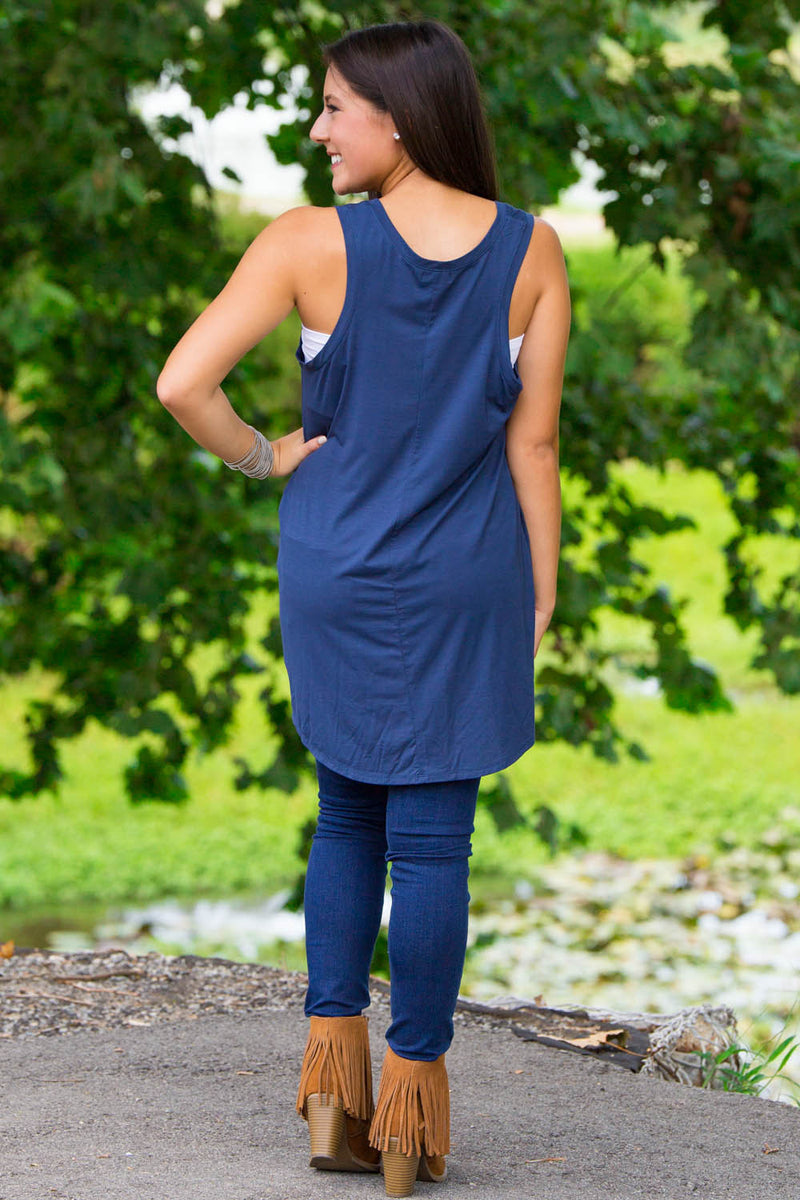 The Perfect Piko Swing Tank-Navy