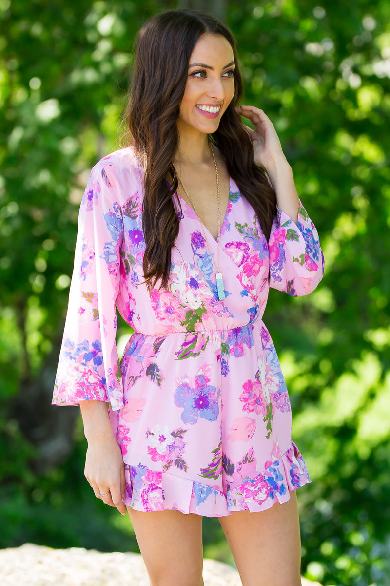 Everly-Playful Days Romper-Pink