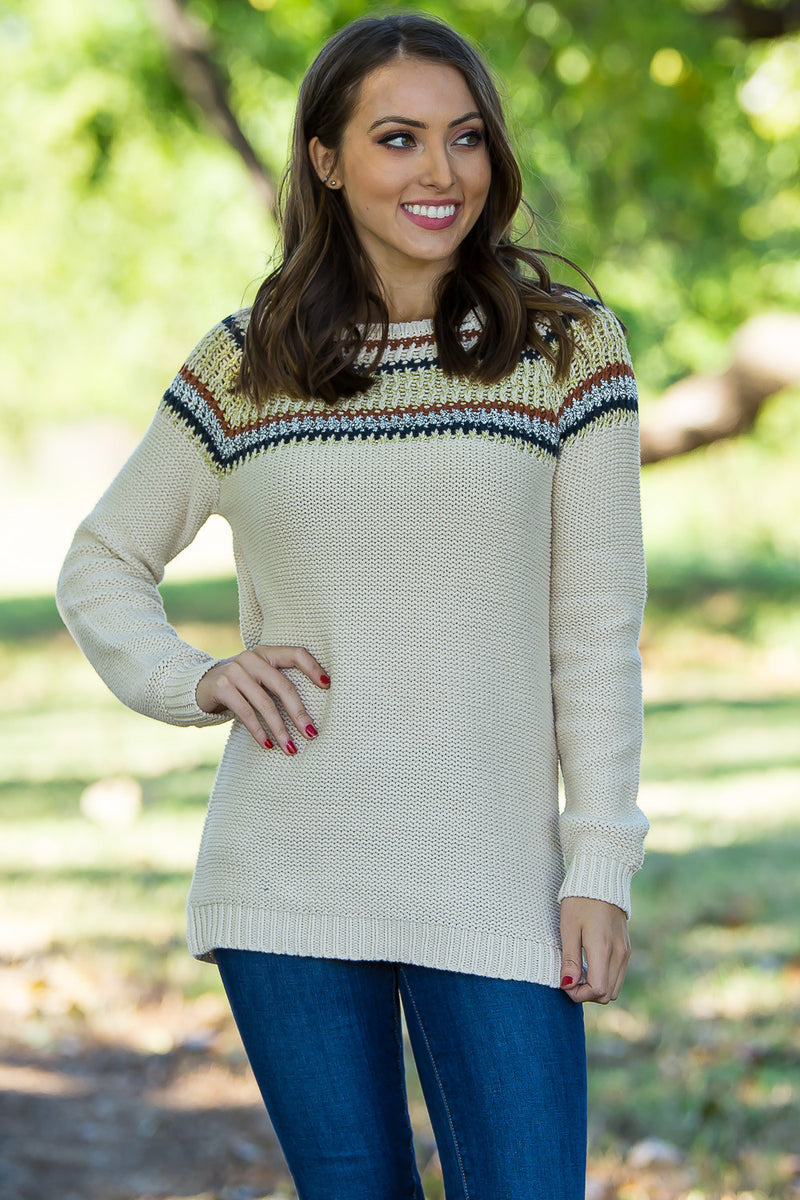 SALE- Made With Love Sweater-Gold/Multi
