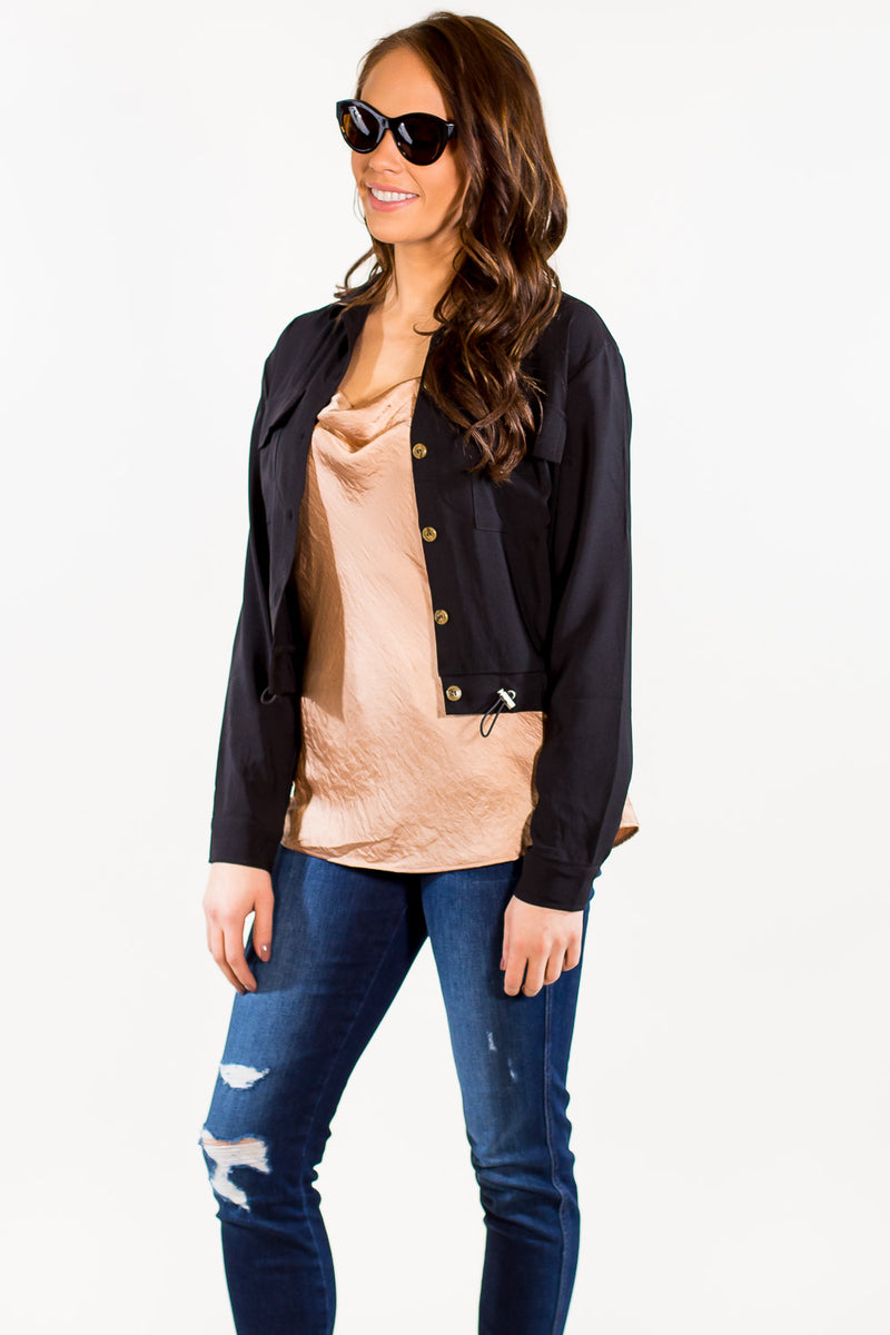 SALE - Everly -Draw Me Closer Jacket-Black