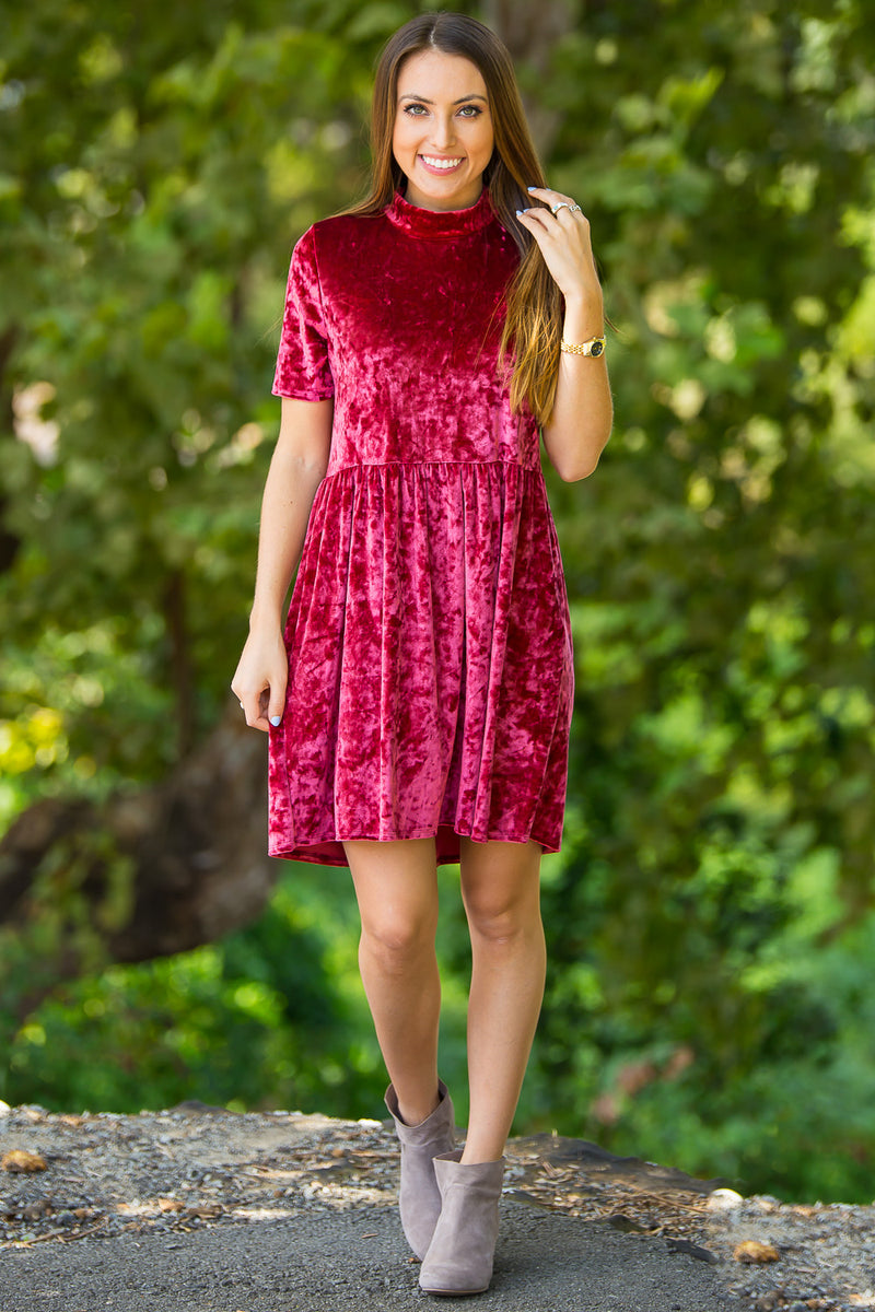 SALE-Holiday Cheer Dress-Ruby