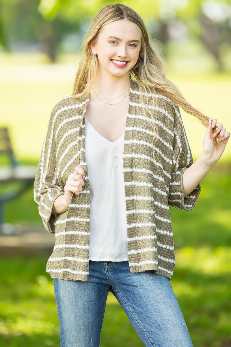 Win It All Cardigan-Sage/Ivory
