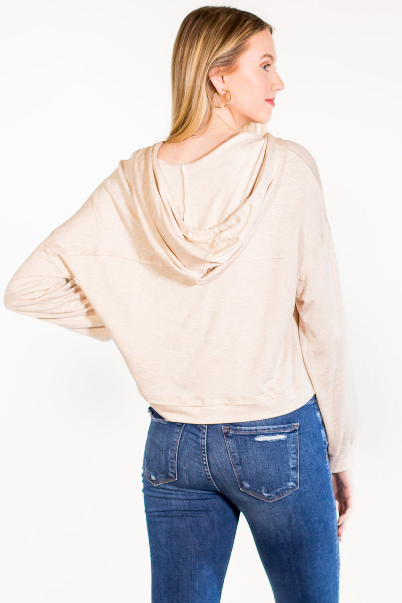 SALE - Too Hood For You Top - Oatmeal