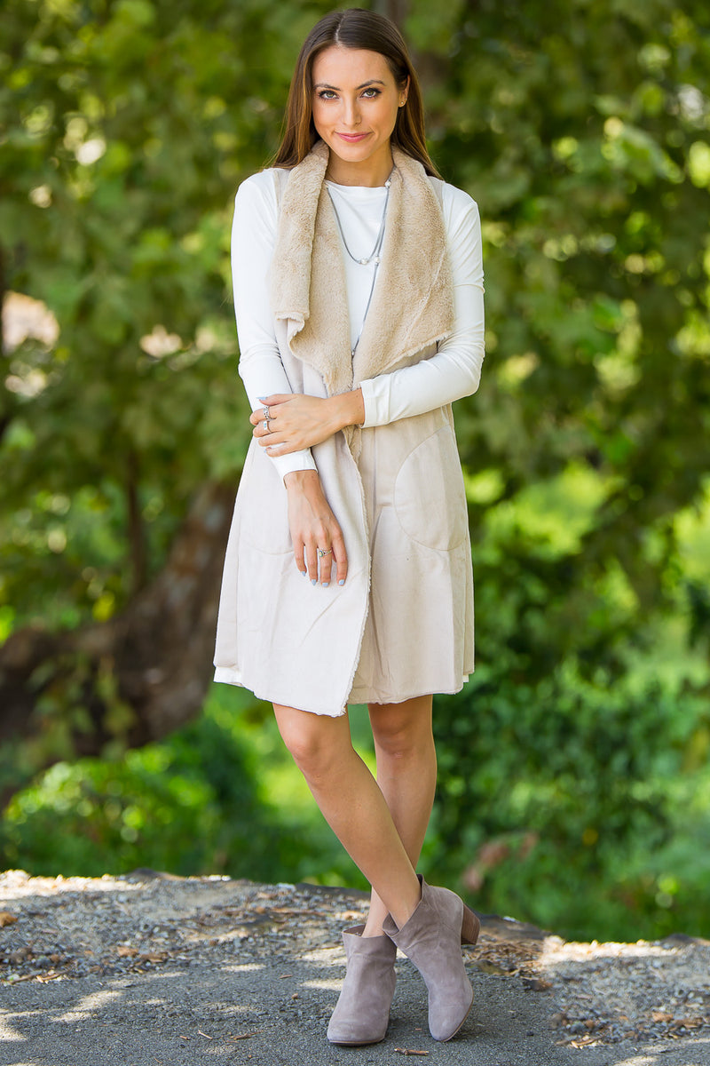 The Perfect Piko Long Sleeve Swing Dress-Off White