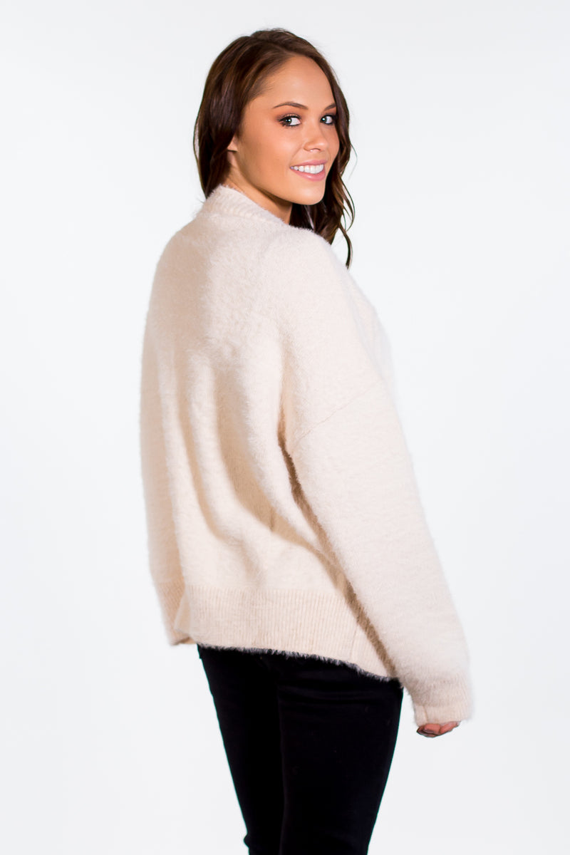 She's A Star Cardigan - Ivory