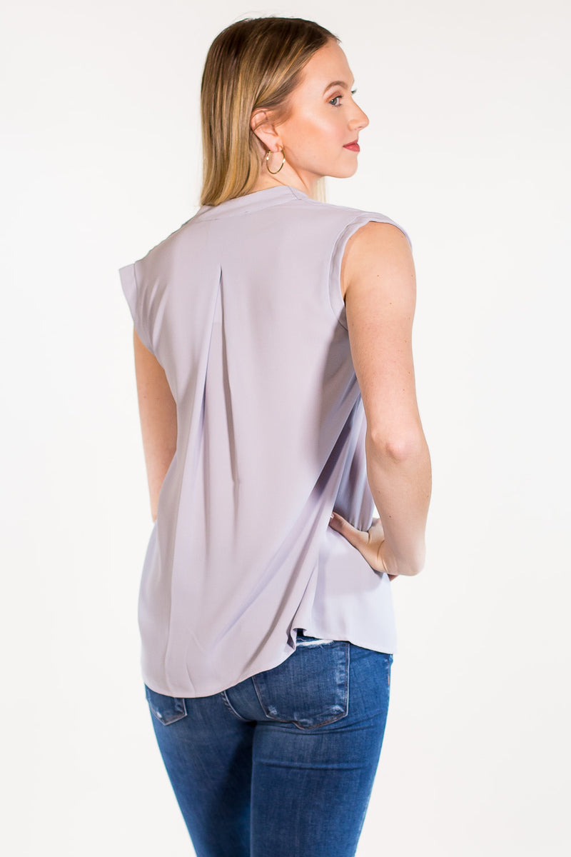 Classically Free Tank Top-Grey