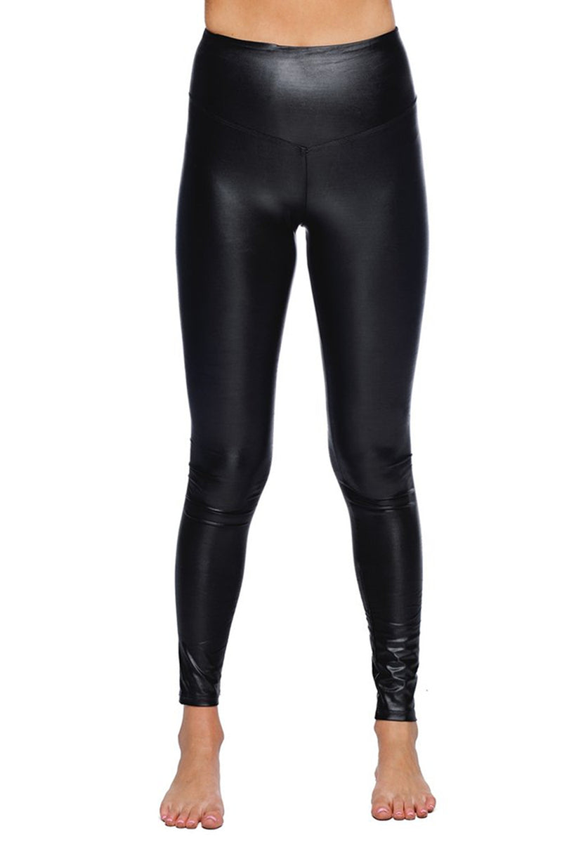 Buddy Love-Jillian Faux Leather Legging-Black