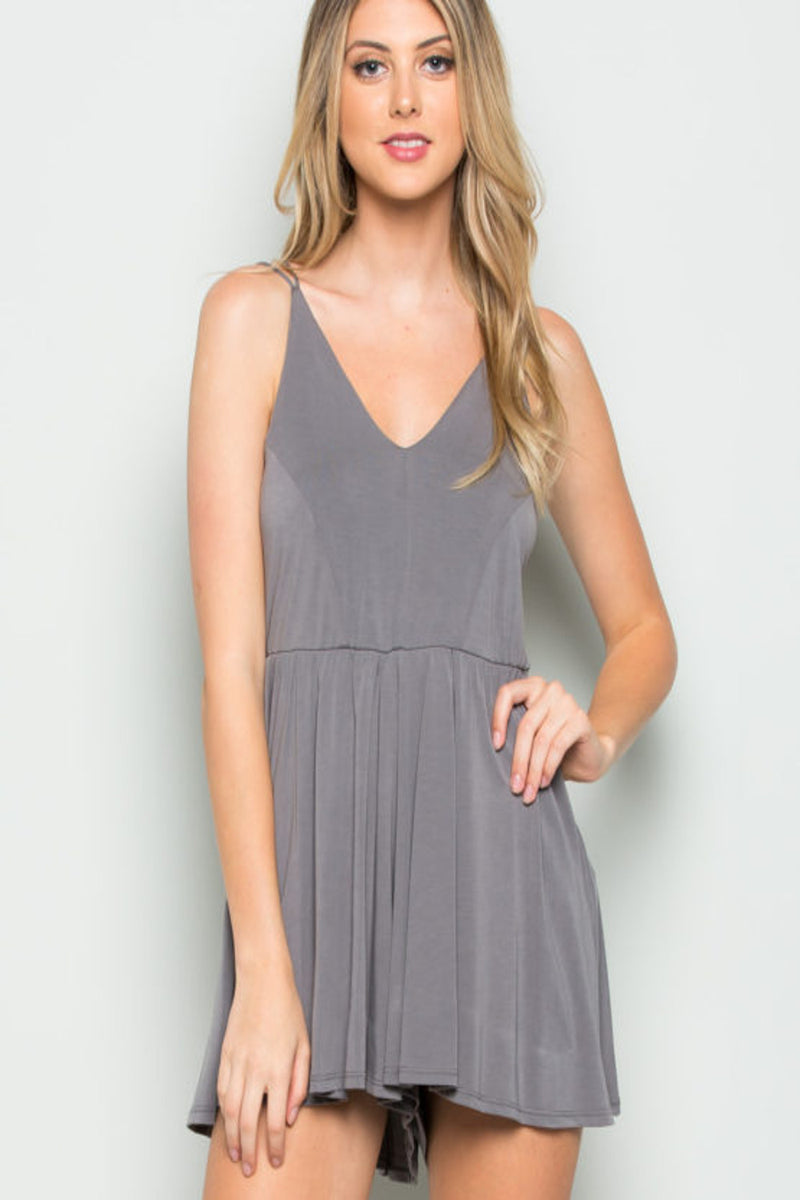 SALE-Calm And Cool Romper-Light Grey