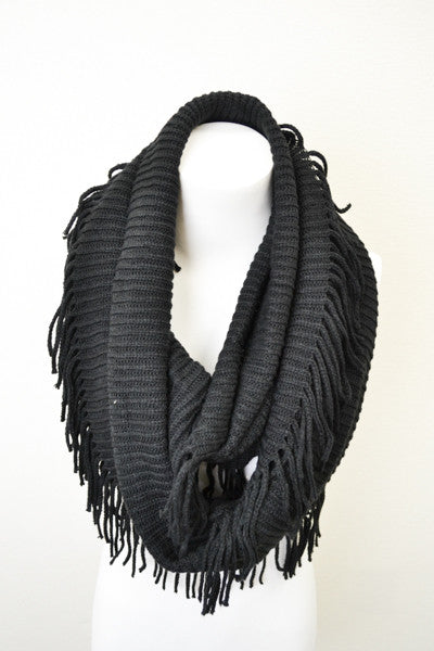 Baby It's Cold Outside Scarf-Black