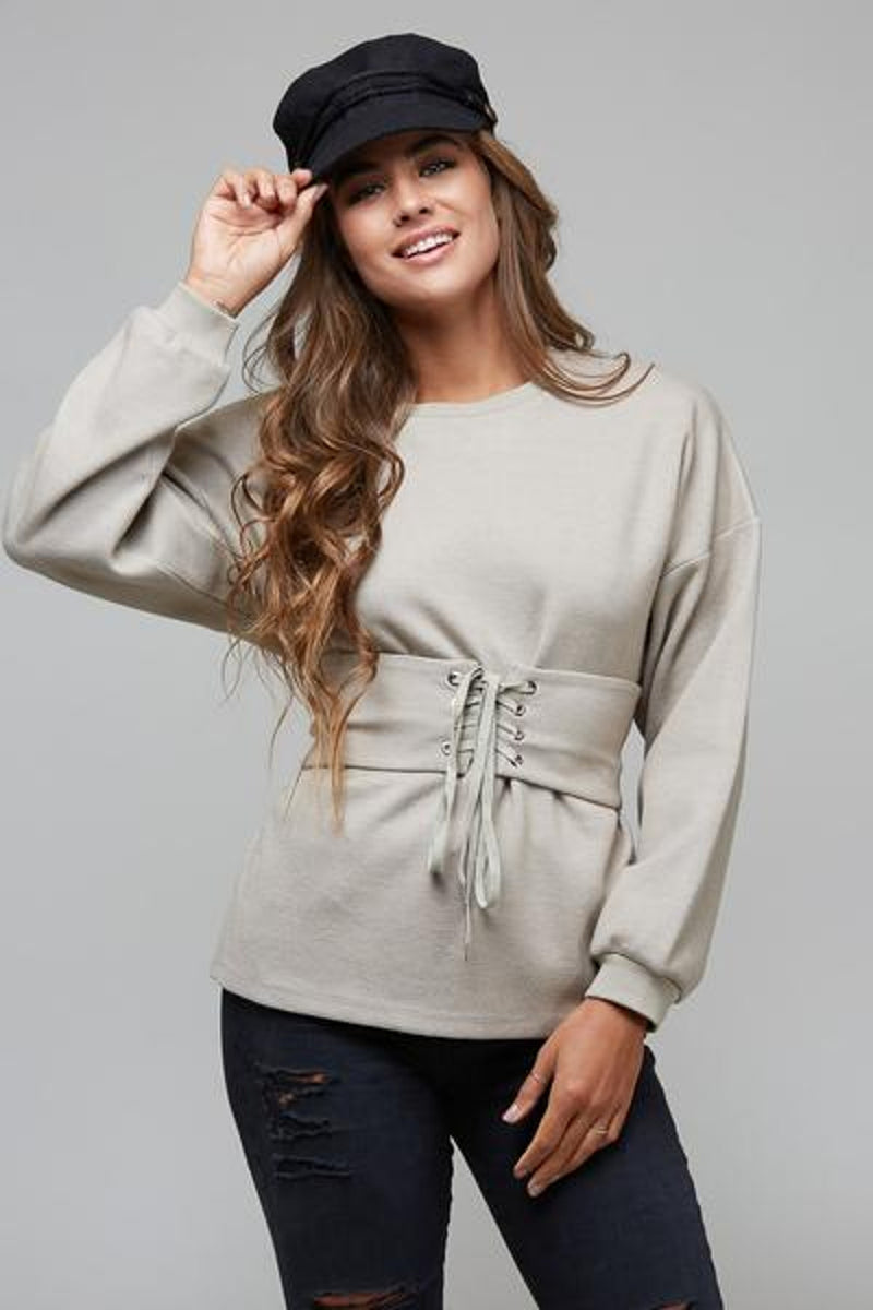 Break Even Top-Taupe
