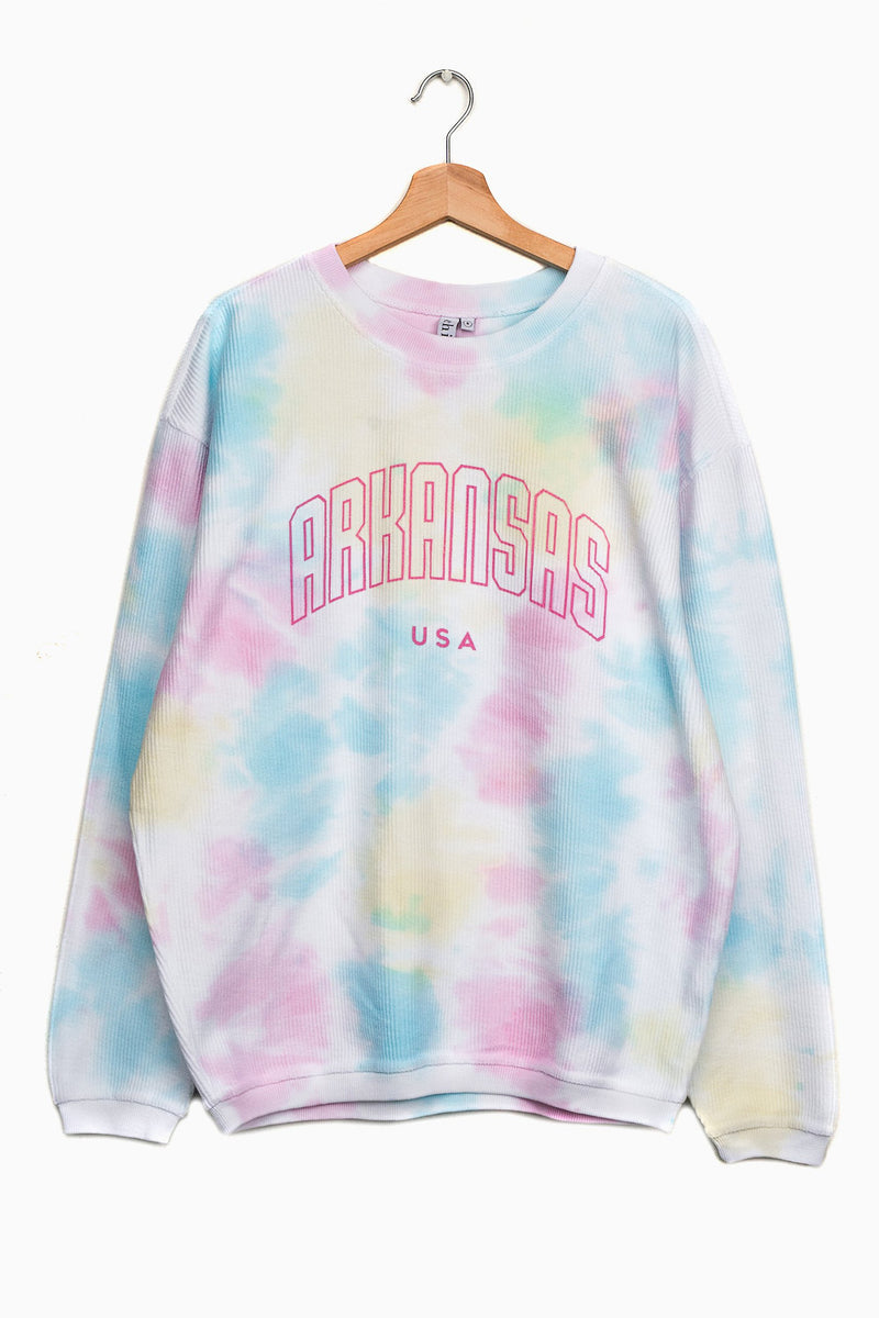 Arkansas USA Rainbow Sweatshirt - Multi