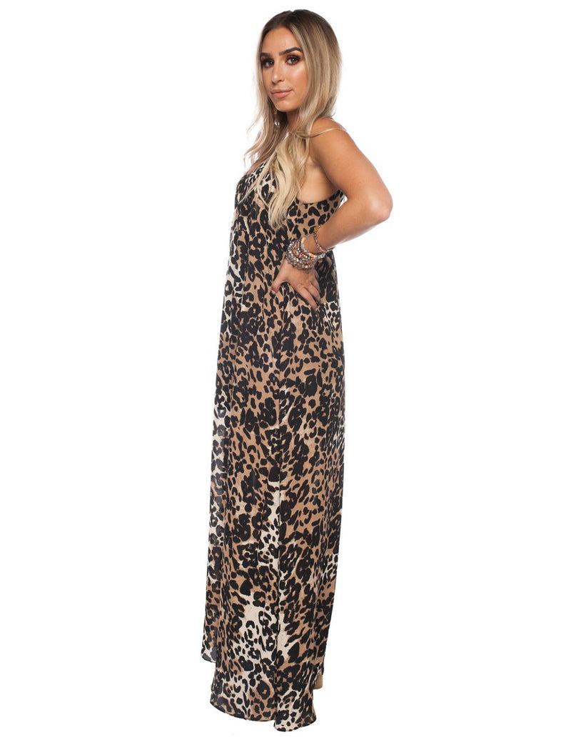 SALE - Buddy Love-Panama Leopard Maxi Dress
