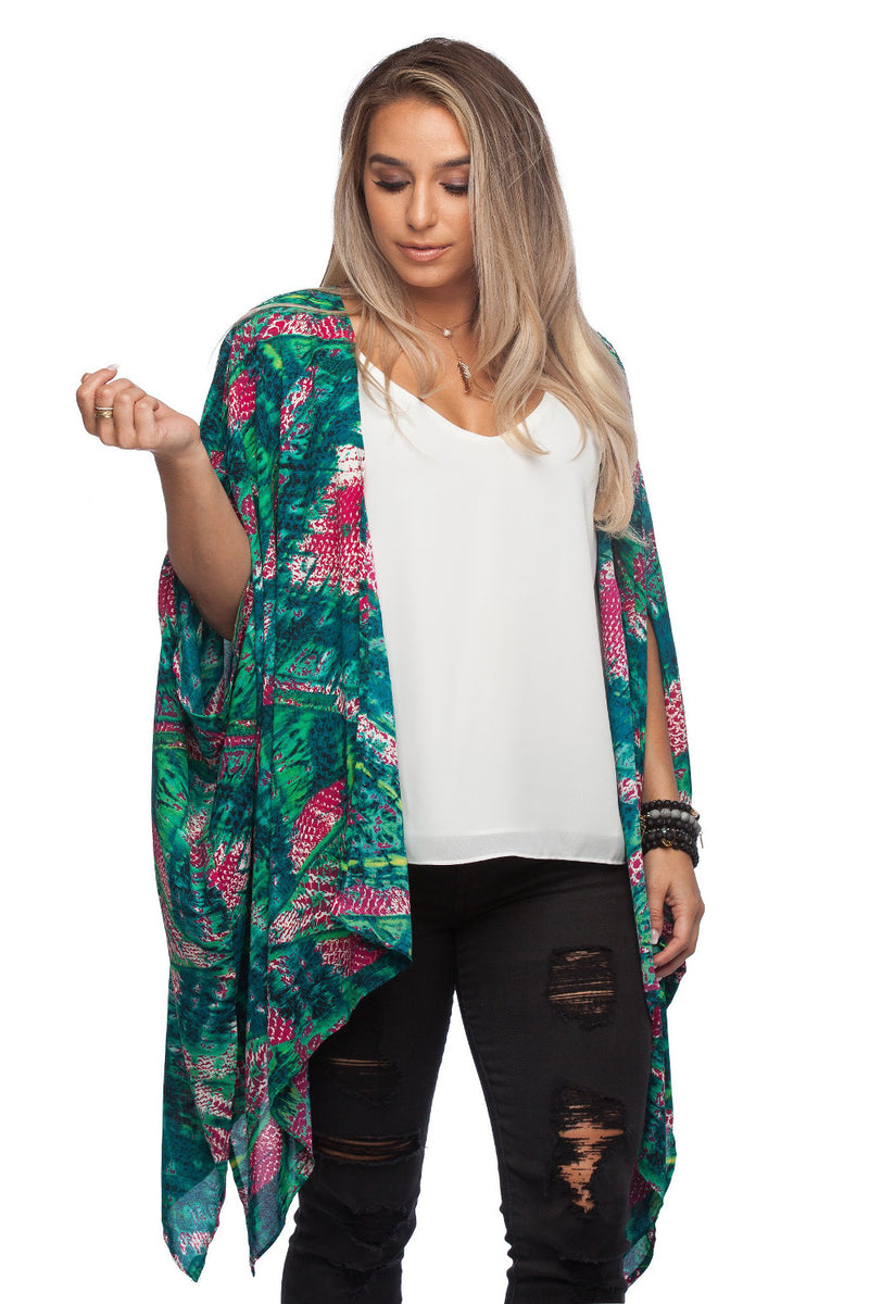Buddy Love-Mindy Alligator Kimono-Green