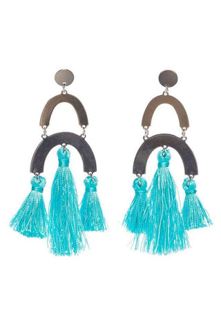 Resin Ring Drop Earrings-Multi