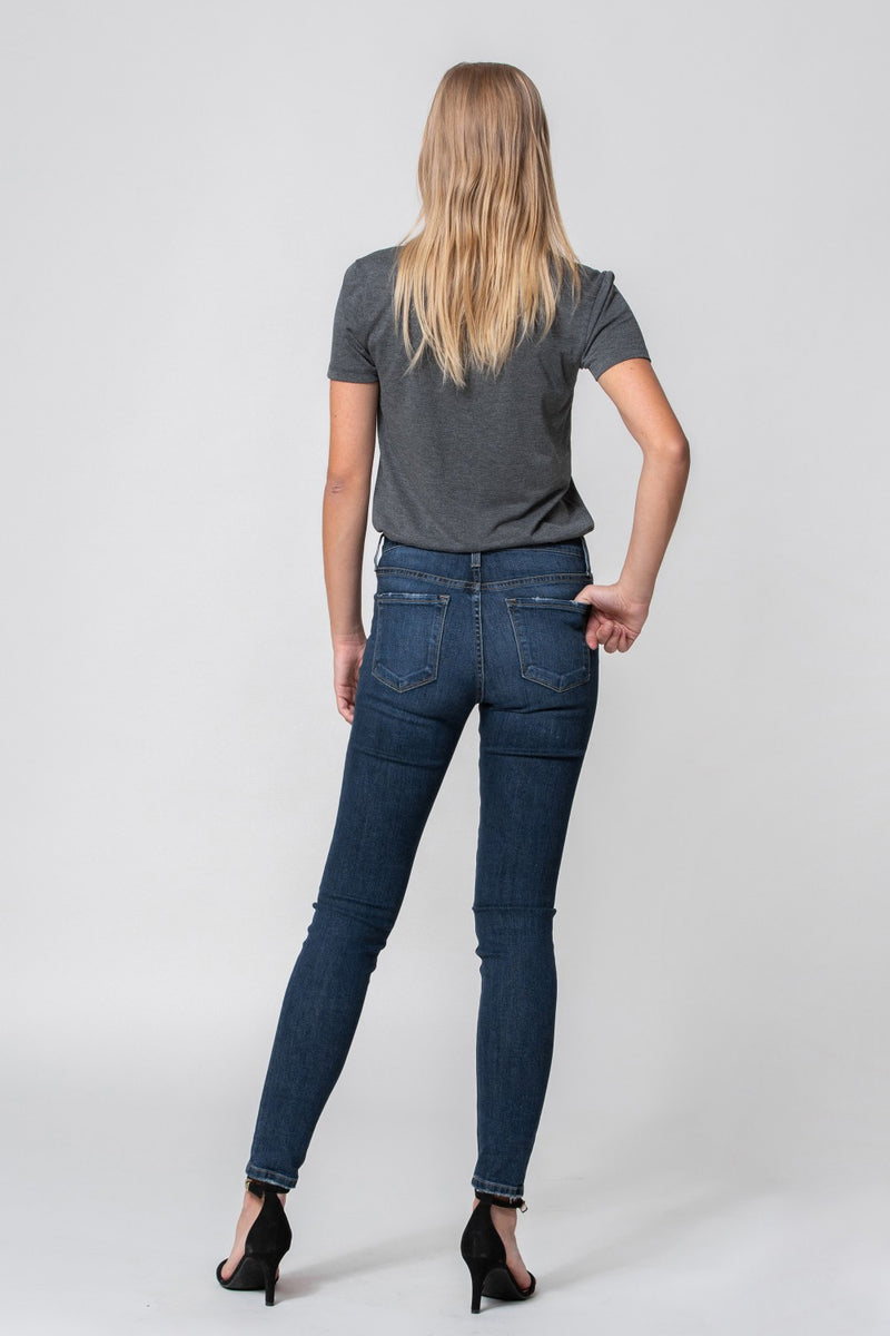 Flying Monkey-Mid Rise Distressed Skinny-Weekend Blues