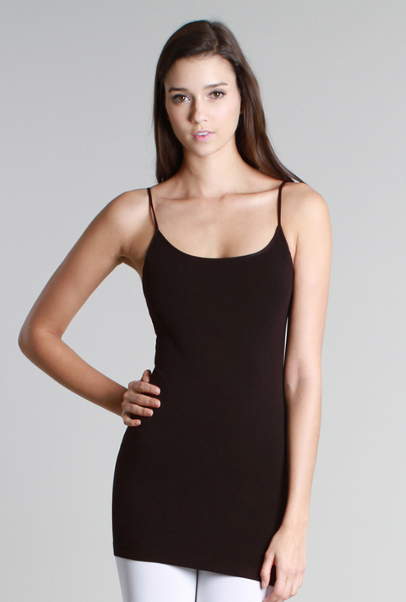 Basic Long Camisole - Brown