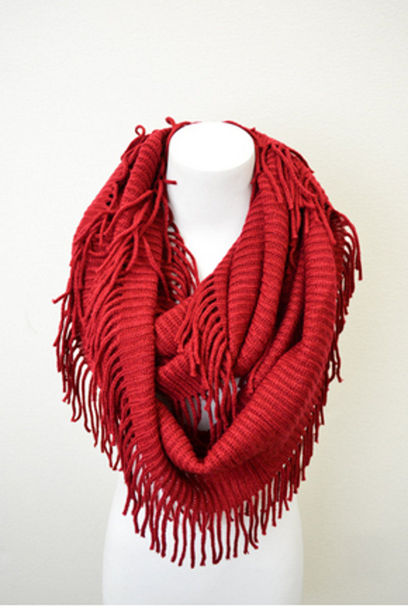 Baby It''s Cold Outside Scarf-Burgundy