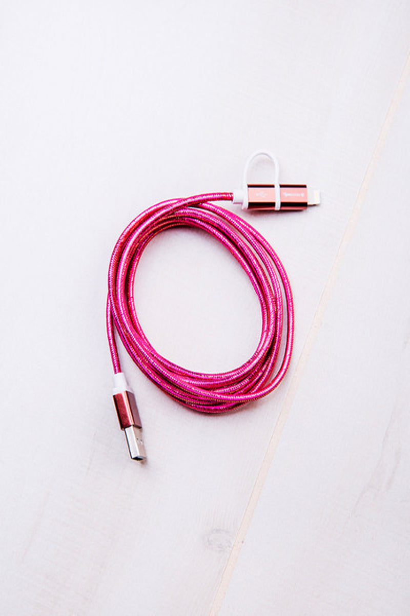 Tech Candy-Dynamic Duo USB Cable-Rose Gold