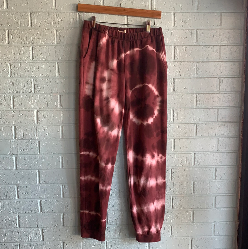 SALE-She's All Set Pants-Marsala/Off White