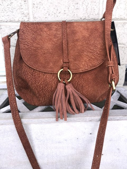 Triple 7 Global-Saddle Bag With Tassel-Brown