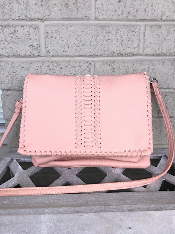 Triple 7 Global Structured Bucket Bag With Tassel-Blush