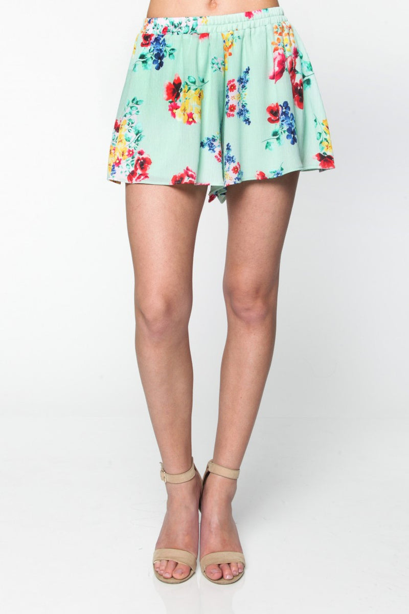 SALE-Everly-Tend To The Garden Shorts-Mint