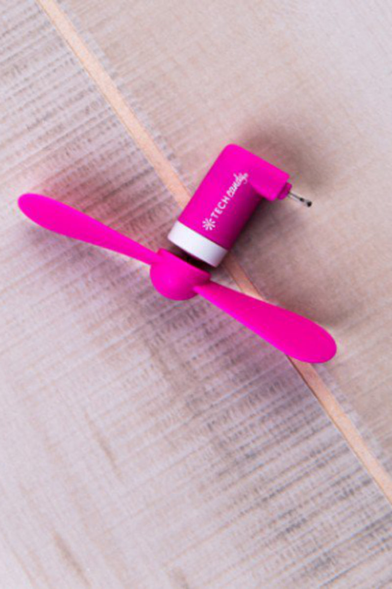Tech Candy Fan Girl I Phone Fan-Neon Pink