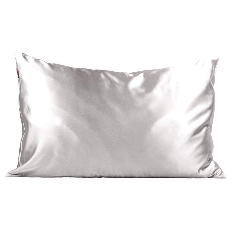 Kitsch-Satin Pillowcase-Silver