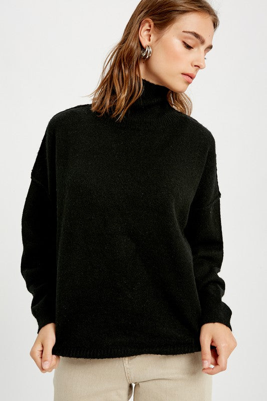 Simple And Sweet Sweater - Black