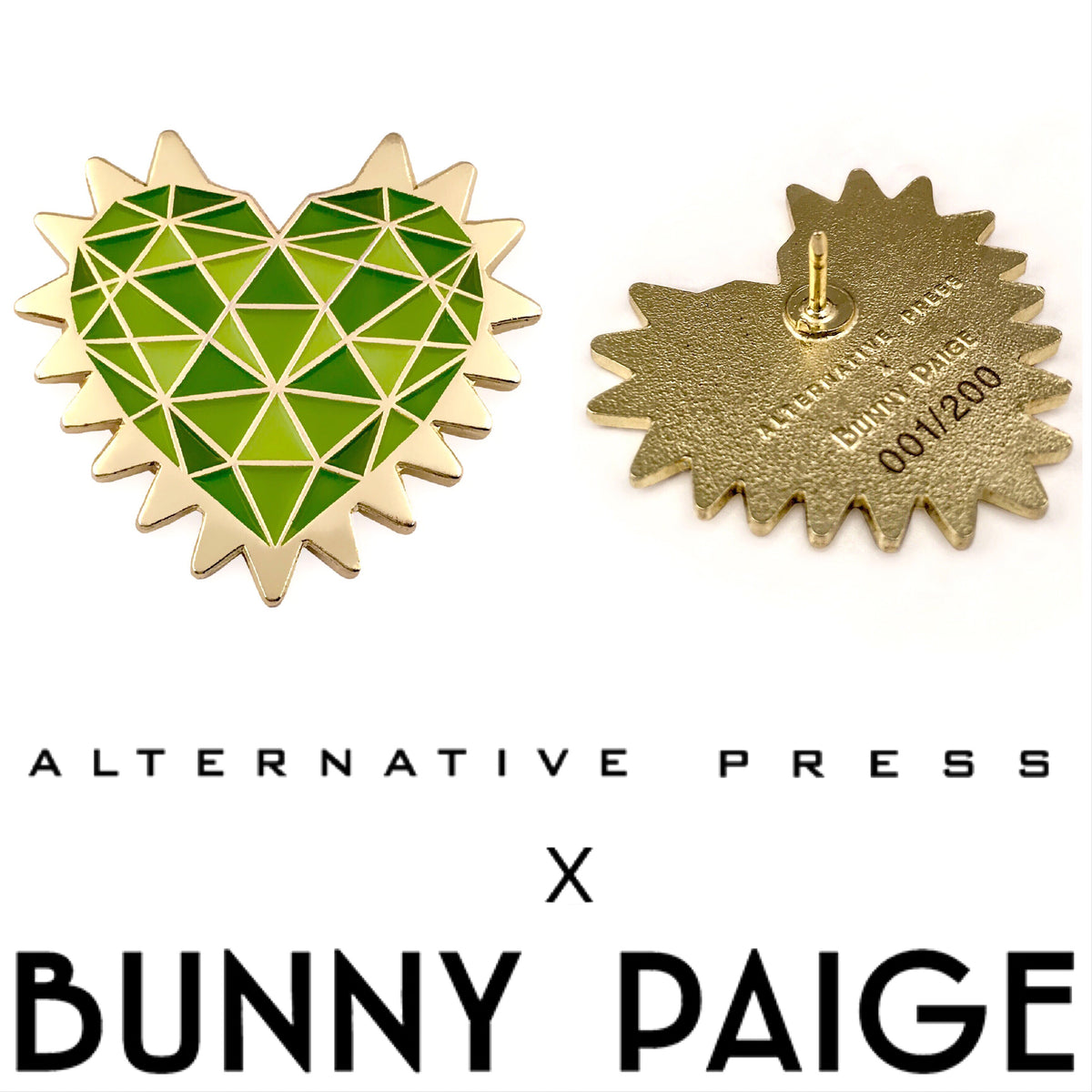 Bunny Paige x Alternative Press Magazine | Custom Spike Heart Enamel Pin Collaboration