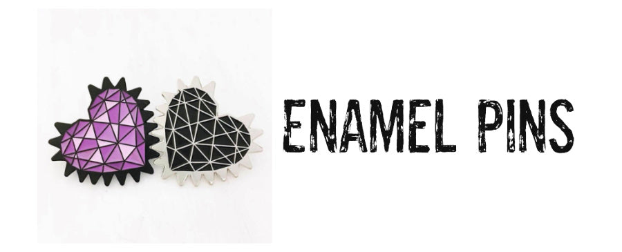 hand drawn trace of one of my spiked hearts with a geometric design in the middle that mimics my signature pavé design.