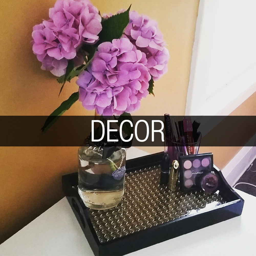 Modern-Punk living!  Studded trays and jewelry boxes!  The ultimate in sparkle!