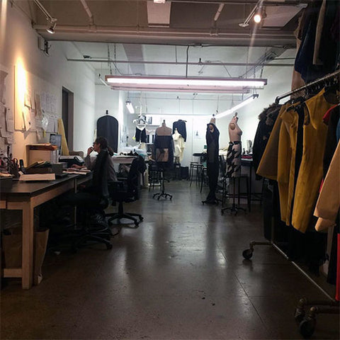 Bunny Paige sneak peak at Kevin Johnn's Studio The Morning of the Runway show