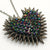 Classic Spiked & Paved Heart Necklace | Dark Rainbow