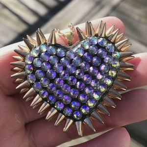 Classic Spiked Heart Necklace | Paradise & Gold | 𝗔𝗥𝗖𝗛𝗜𝗩𝗘