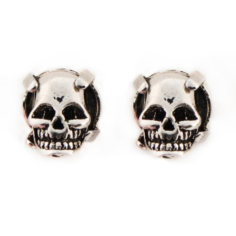 Sterling silver skull earring memento Moro by Bunny Paige