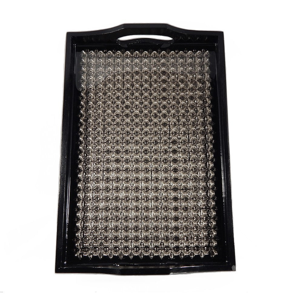 Black Lacquer Studded Tray