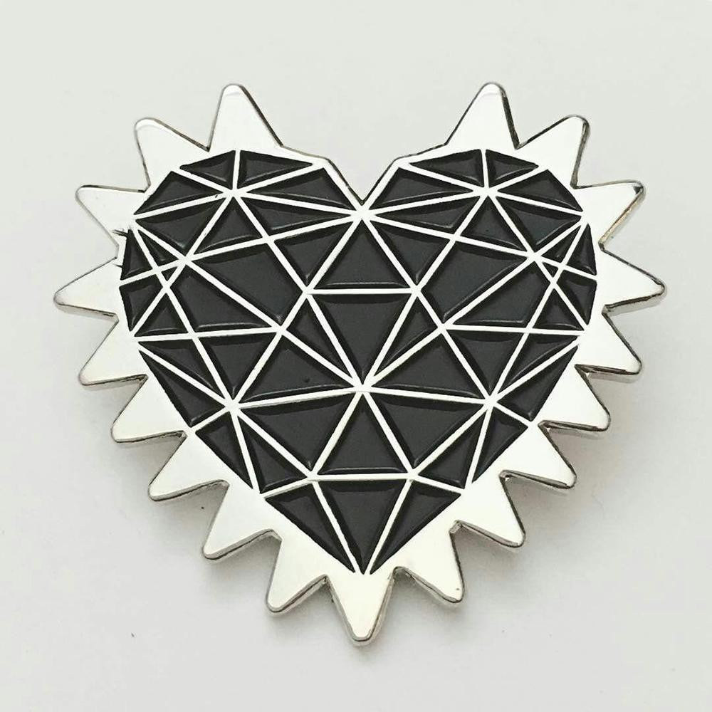 Spiked Heart Enamel Pin