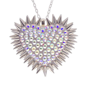 Classic Spiked & Paved Heart Necklace | Aurora