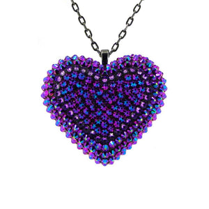 Classic Pavéd Heart Necklace in Intergalactic