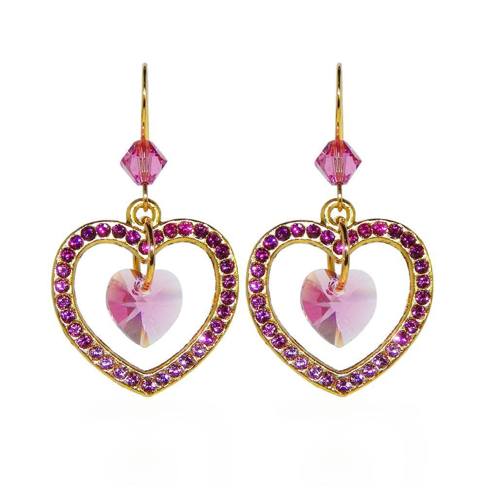 Crystal Heartbeat Earrings