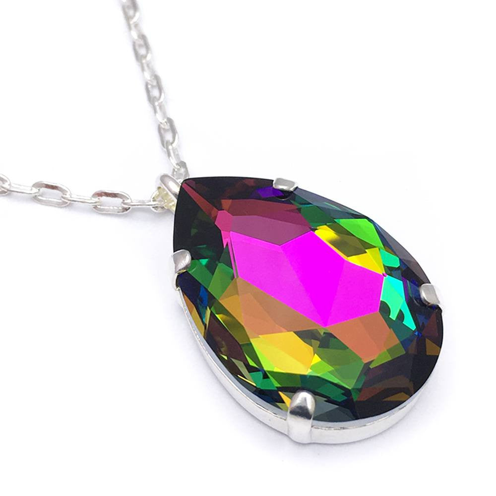 Crystal teardrop necklace bunny paige crystal teardrop necklace mozeypictures Images