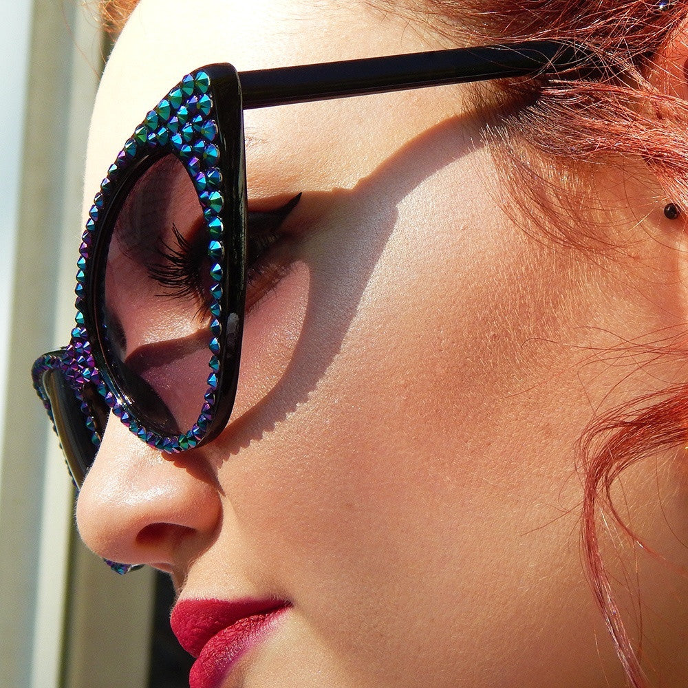 Dragon Femme Fatale Cat Eye Sunglasses by Bunny Paige | Made with Crystal From Swarovski